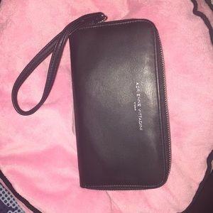 """Adrienne Vittadini Black Leather Wallet 8x4"""""""